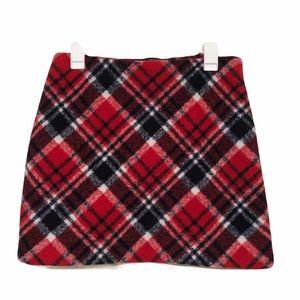Forever 21 Plaid Flannel Winter Mini Skirt